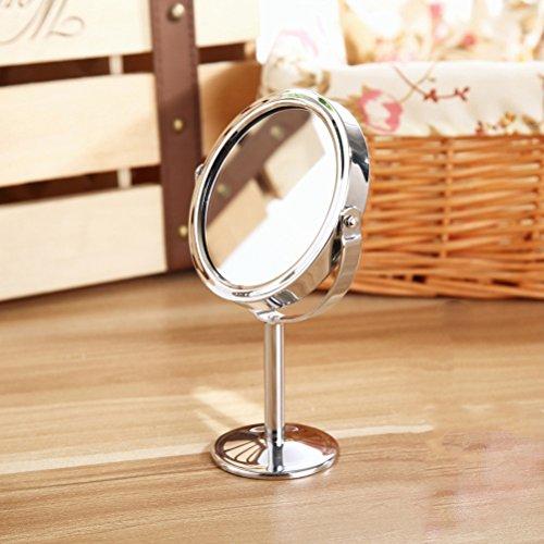 Frcolor Doppelseitige Spiegel Kosmetikspiegel rund um Rotary Schreibtisch Spiegel