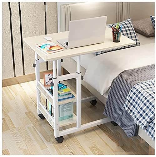 End Table Side Table Over-Bed Tables Home Rolling Mobile Computer Desk Table Sofa Laptop With Storage Shelves Furniture End Tablespace Saving