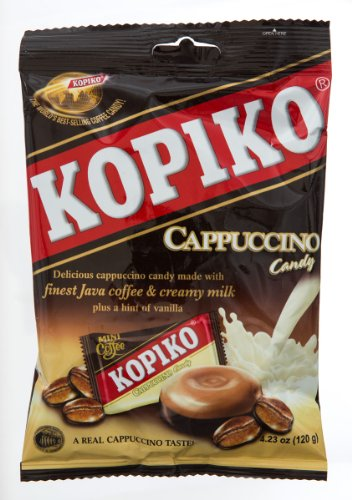 Kopiko Snack Candy Cappuccino, 4.23-Ounce (Pack of 8)