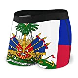 Drempad Calzoncillos Bóxers Slips, Men's Boxer Briefs Flag of Haiti Breathable Hip Ropa Interior with Comfort Waistband
