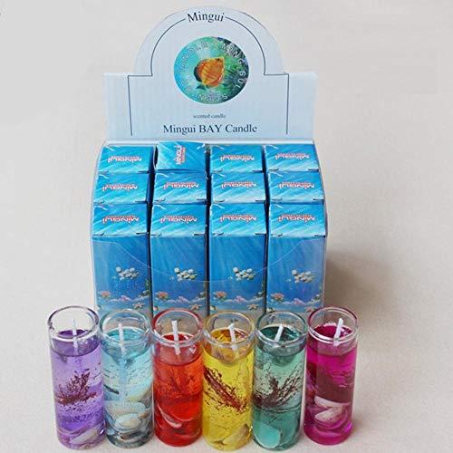 rtgfb Velas Olores Arom Día Boda Cumpleaños Concha Velas Velas Románticas Aromaterapia Vela De Gelatina De Mar Vaso De VidrioVelas DeCera, Color Aleatorio, China