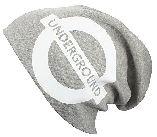2Store24 Bonnet Jersey Long/Slouch underground en gris chiné
