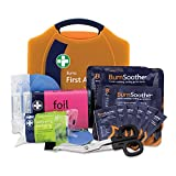 Reliance Medical Burn First Aid Kit in Orange Compact Aura Box