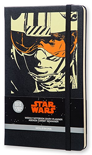 Moleskine 2015-2016 Star Wars Limited Edition Weekly Notebook, 18M, Large, Black, Hard Cover (5 x 8.25)