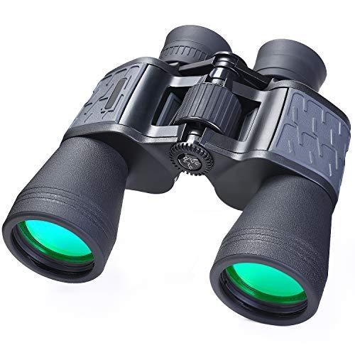 Binocolo 10x50 per Adulti, Binocolo Compatto ad Alta Potenza Telescopio Impermeabile per Osservazione Uccelli Concerti Osservare le Stelle