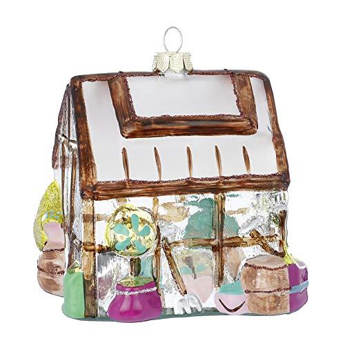 We Love Christmas Ornamento da Appendere in Vetro Casetta 11,5cm
