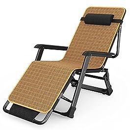 Chaise Longue Chaises Longues Inclinables Pliantes Extérieures, Chaise Longue de Patio de Soleil de Plage avec le Tapis…