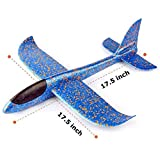 Foam material, tested safe for kids perfect dual flight mode foam plane toy 2 Flight mode: glider mode and reversal mode, there are two holds in the plane's tail For all age - not only for kids, the whole family can enjoy