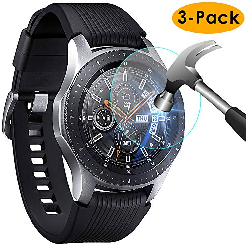 KIMILAR Pantalla Compatible con Samsung Galaxy Watch 46mm / Gear S3 Protector Pantalla, Templado Vidrio Compatible con Galaxy Watch 46mm & Gear S3 Frontier/Classic - 9H Dureza Anti-rasguñe