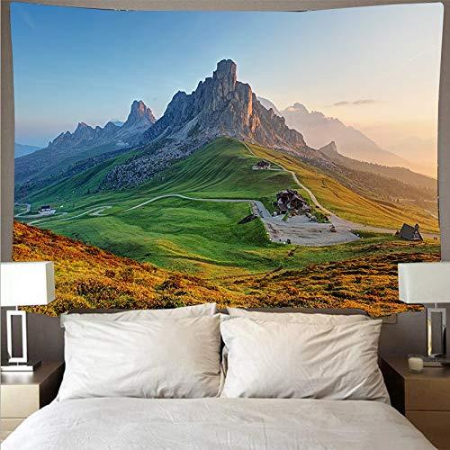 Montaña bosque cielo paisaje tapiz arte psicodélico colgante de pared toalla de playa mandala manta fina tela de fondo A1 180x200cm