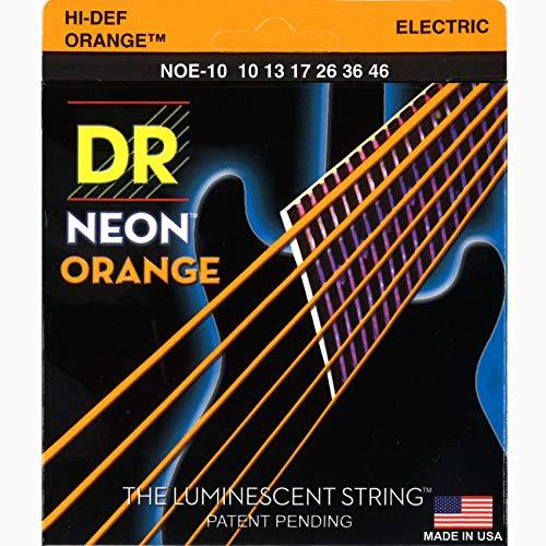 DR String NOE-10 Neon Orange snarenset voor elektrische gitaar