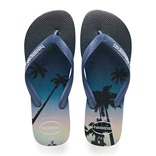 Havaianas Men's  Hype Flip Flop Sandal Blue/Blue/White 11/12 M US