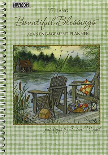 Lang Bountiful Blessings 2016 Engagement Planner, Spiral Bound by Susan Winget, January to December 2016, 6.25 x 9 Inches (1011083)