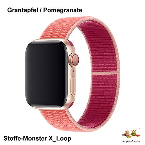 Stoffe-Monster X_Loop Watch Armband Sport Granatapfel 38mm / 40mm