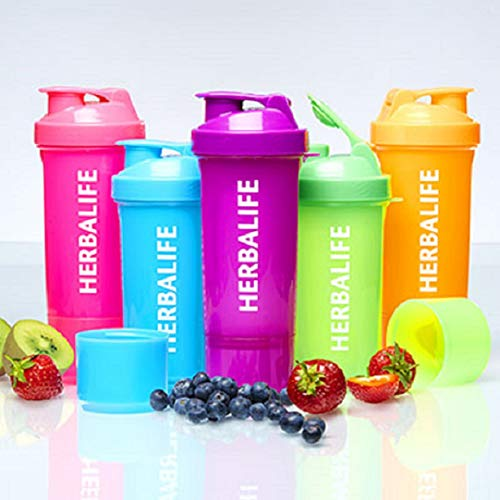Herbalife neon shaker cup with Pillbox by Body Market (Orange)
