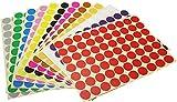 Gomets Colores,19 Hojas 6mm Puntos Redondos de Colores Puntos Adhesivos 1050 Etiquetas de Puntos Pegatinas para Oficina Calendarios Escolares Mapas Manualidades