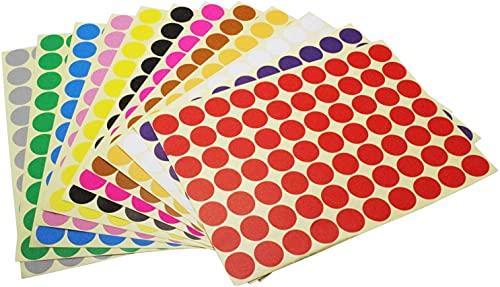 Etiquetas Adhesivas Redondas Colores Marca