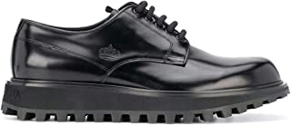 Luxury Fashion | Dolce E Gabbana Men A10513A103780999 Black Leather Lace-up Shoes | Spring-summer 20