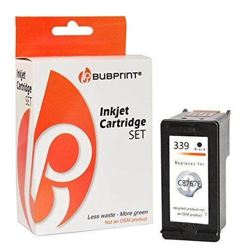 Bubprint Druckerpatrone kompatibel für HP 339 HP339 für Deskjet 6500 6840 6980 9800 Officejet 7210 7310 K7100 Photosmart 2610 8050 8150 8450 Schwarz