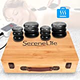 Massage Stone Heater Box Set - Electric Spa Portable Heated Rocks Massage Stones...