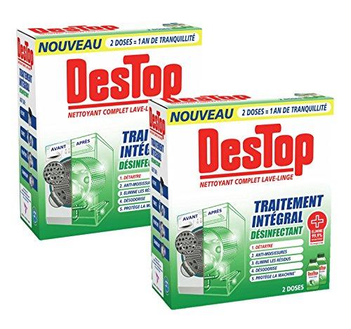 puissant Nettoyant désinfectant Stop Complete pour lave-linge – Lot de 2