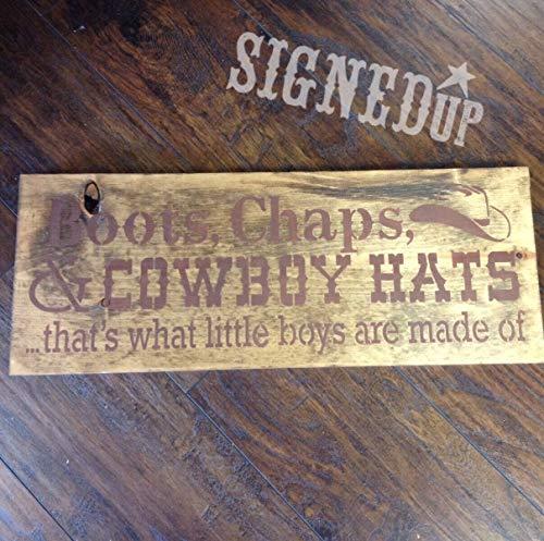 Ced454sy laarzen Chaps cowboy hoeden hout teken
