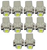 AERZETIX: 10 x Bombillas T5 12V LED SMD para salpicadero Luz blanco