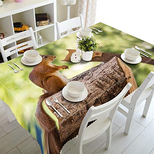 MinegRong Couverture de Table Basse rectangulaire Nappe 3D imperméable à la fête Autour de la Couverture de Cabinet Taille personnalisée lièvre dans Les Bois Taie d'oreiller-Couleur 2,130cm * 180cm
