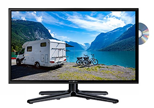 Reflexion LDDW19 Wide-Screen LED-tv voor campers met DVB-T2 HD, dvd-speler, triple-tuner en 12V auto-adapter 24 inch LDDW24