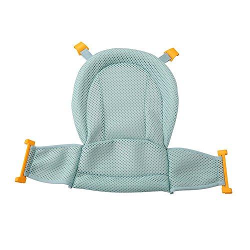 Baby Badewannensitz, Isuper Babybadewanne Unterstützung Einstellbares Verdicktes Anti-Rutsch Badennetz für Neugeborene Baby und Kleinkinder Baby Badezubehör (Grün)