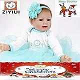 ZIYIUI Muñecas Reborn Baby Dolls Ojos Abiertos 22 Pulgadas 55cm Bebe...