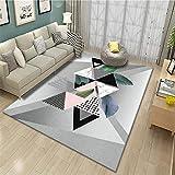 alfombras para comedor alfombras para salon Protección del medio ambiente del dormitorio de la sala de estar de la alfombra moderna gris suave y antideslizante alfombras online 120X180CM 3ft 11.2'X5ft