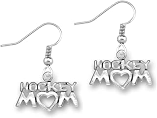 Hockey Mom Charm Earrings, Hockey Mom Jewelry for Moms
