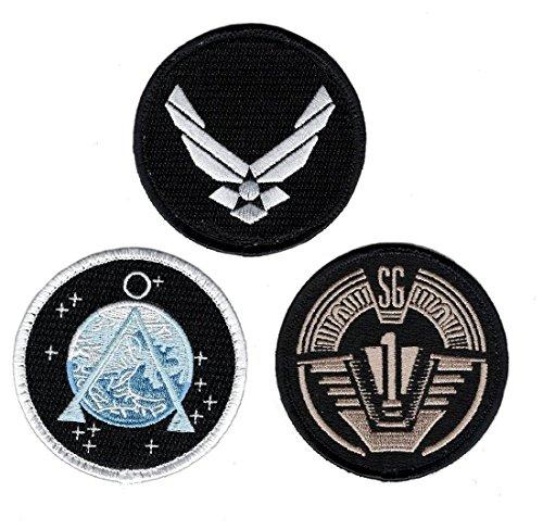 Stargate SG-1 Uniform/Costume 3.0 inch Iron on Patch (Bundle 3pc)