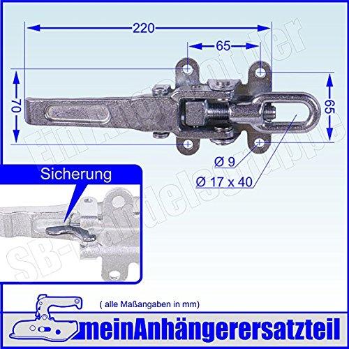 Exzenterverschluss Spannverschluss Bordwandverschluss 265mm mit Langgriff