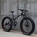 Bicicleta De Nieve Bicicleta De Playa Doble Absorción De Impactos Velocidad Variable Freno De Disco Bicicleta De Montaña 24/26 Pulgadas 4.0 Rueda Ancha Bicicleta De Montaña Bicicleta Para Adultos,