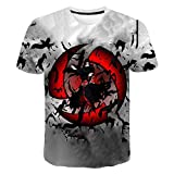 XKDZT Camiseta De Moda 3D Anime Naruto Uchiha Itachi Camiseta Estampada Verano Hombres Streetwear Mujeres Manga Corta Cuello Redondo Tops-4XL