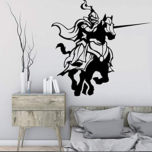 yaofale Mittelalterliche Ritterkampfspiel Pferdeaufkleber Wohnzimmer Wandtattoos, Wohnkultur Kunst Wandbild Tapete