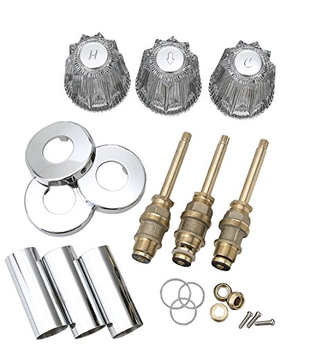 BrassCraft SK0274 Tub and Shower Rebuild Kit for Price Pfister Faucets Old Style Windsor, Clear/Chrome