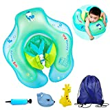 Eenbei Baby Floats for Pool, Cute Leakproof Swimming Floats Swim Rings Babies Inflatable Life Jacket for Kids Toddlers Aged 6 - 30 Months