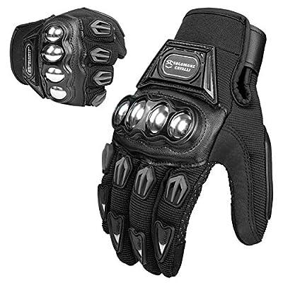Tcbunny Pro-biker Motorbike Carbon Fiber Powersports Racing Gloves (Blue, Large) by TCBunny