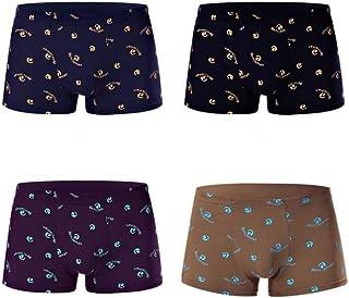 HaiDean Men's Boxer Briefs Underpants Warm Modern Casual Under Shea Seamless Comfort Soft Cotton Boxer Panty Underwear