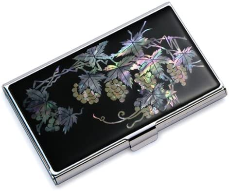 Ranking TOP7 Mother of Pearl RFID Blocking Wallet Very popular! Bus Grape Design Protection