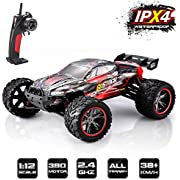 GoStock RC Car Off-Road Buggy 1:12 Scale 2.4Ghz Radio Remote Control Electric Off-Road Vehicle for Outdoors of High-Speed 38km / h Toy Car for Children and Adults (9116)