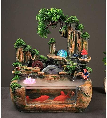 L.TSN Brunnen des Brunnens Buddha Brunnen Zen Tischplatte Brunnen des Wassers für Bürodekoration Statuen Dekoration Dekoration Handwerk Büro Ornamente