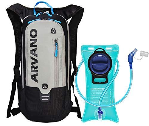 Arvano Fahrradrucksack mit 2l Trinkblase Trinkrucksack,6l Leichter Wasserdichter Rad Fahrrad Rucksack,Kleiner Skirucksack, Sportrucksack für Outdoor Camping Wandern Laufen Radsport Bike MTB Backpack