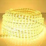 Iluminación AC 220V, 120W Cubierta impermeable Tira de luz LED IP65 SMD 5730 con enchufe, 120 LED/m, longitud: 5 m Iluminación...