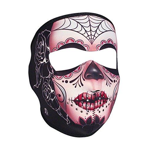 Zanheadgear WNFM082 Neoprene Full Face Mask, Sugar Skull