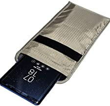 LVFEIER Security Pouch - Cell Phone Anti-Tracking Anti-Spying GPS RFID Signal Blocking Bag Shielding Pouch Wallet Case for Cell Phone Privacy Protection