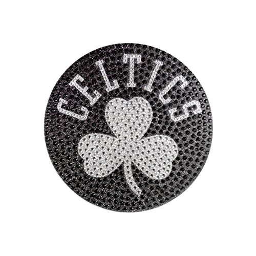 FANMATS Team ProMark NBA Boston Celtics Bling Emblem, 6.25' x 6.25', Silver